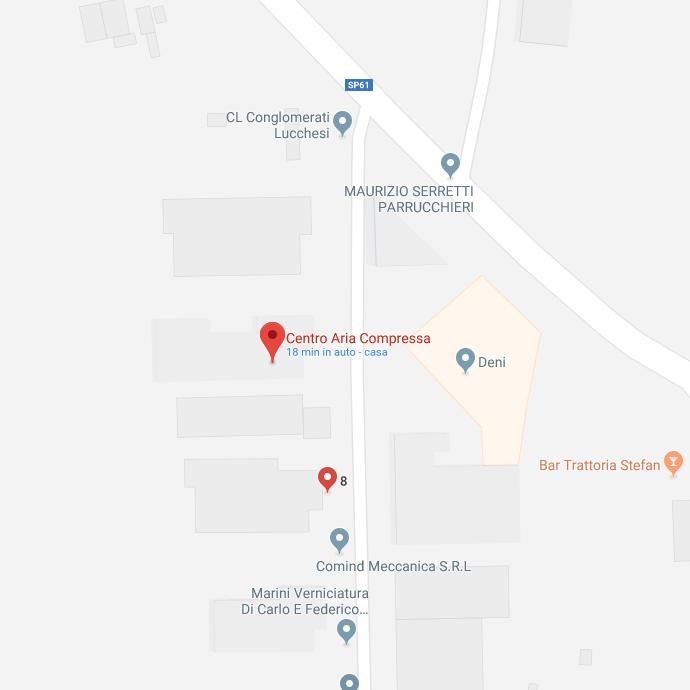 Mappa Centro Aria Compressa