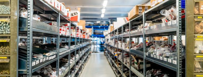 Ampio magazzino Centro Aria Compressa